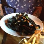 Moules frites (creamy cider sauce for a Westcountry twist)