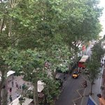 View from our balcony. La Rambla.