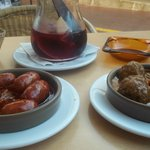 Chorizo and Meatballs (Both Awful)