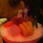 Tri color sashimi