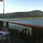 Dinnertime on the deck; between the great food and service, it doesn't get much better !