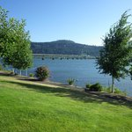 The view from our room of the Columbia River.  A great way to wake up every morning.