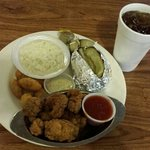 Oyster Plate With Sweet Tea