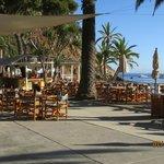 Bar area at Descanso Beach
