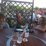 an evening in the bar garden