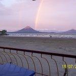 Vista á la Isla de Ometepe desde la Terraza