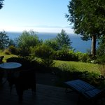 View from the patio overlooking the Straight of Juan de Fuca