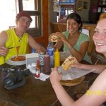 People from Germany, eating italian food in...Nicaragua!