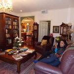 The super comfy lounge area