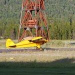 Airplane Landing at the B&B