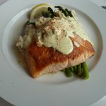 salmon oscar, very rich, potatoes a bit salty