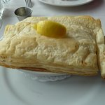 seafood pie-filled to the brim with yummy seafood-very rich