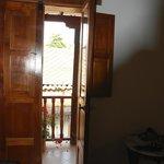 Room door to balcony