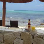 Sun, beverages, snorkeling and a palapa