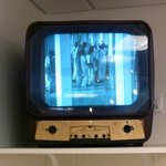 Old TV playing Cuckoo's Nest