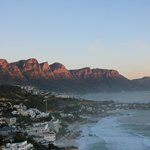 Camps Bay and the 12 Apostles from 2B's balcony
