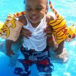 Andre enjoying the pool