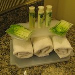 Nice soap and towel display