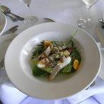 鴨と半熟卵の前菜