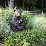 Beautiful wood bear sculpture