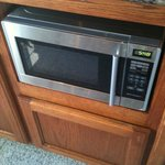 Microwave machine in the breakfast room to warm up your food