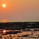 the sun, setting