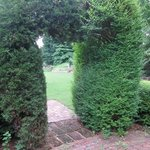 Heartshaped hedge opening...perfect for weddings or romance