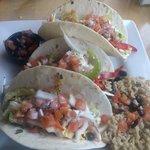 Shrimp tacos... Yummy!