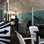 restaurant black and white