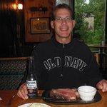 prime rib, garlic mashed potatoes, and a happy hubby