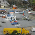 Airport in a corner of the layout. An example of many dioramas withing the layout