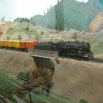 Freight train in authentic American scenery