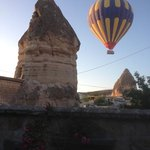 goreme balloon from the street