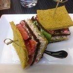 rillettes du pêcheur maison façon club sandwich , une merveille !!!
