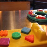 Instead of a number to put at your table you get a toy