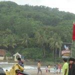 Baga beach in July