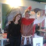 Un accueil chaleureux du gladiateur romain