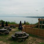 Lovely grounds with views of bay and play areas for children