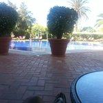 Area da piscina muito agradável!
