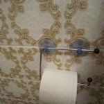 High-quality toilet paper holder and dated bathroom tile