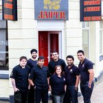 Entrance and our team at Jaipur