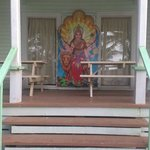 Outside meditation room