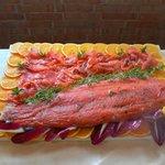 Salmone marinato agli agrumi in bellavista