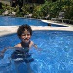 My son Matias enjoyng the kids summing pool