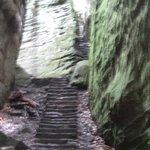 Red blaze trail Catwell Cliffs