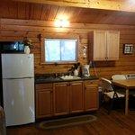 Yogi cabin kitchen area