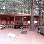 Yogi cabin. Nice front porch.