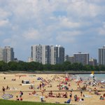 Nice beach in Chicago