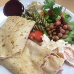 Beautiful ham & cheese crepe