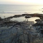 Rock pool at low tide, great natural swimming pool